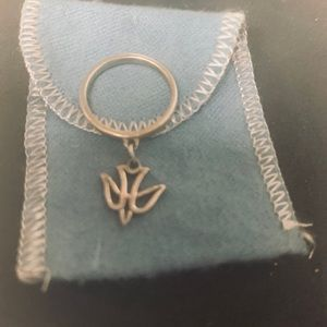 James Avery dove charm dangle ring